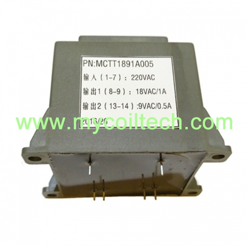 Power EI Encapsulated Transformer Output Power Range from 17.0VA to 35.0VA