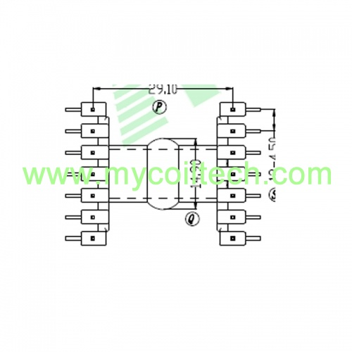 Horizontal EF35 Electronic Transformer Bobbin